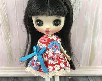 Petite Blythe Dress - Blue and Red