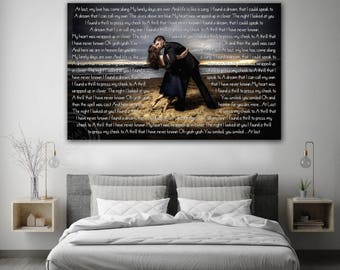 10th Anniversary gift, Wedding Song Canvas, Anniversary Gift, Anniversary art canvas, first anniversary canvas, Large Anniversary Canvas