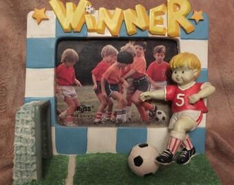Russ Berrie Dream Team Kids Soccer Player Picture Frame MIB