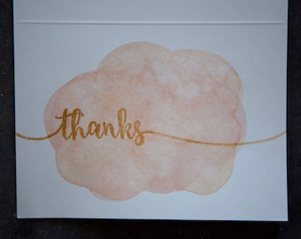 Thanks with watercolor background