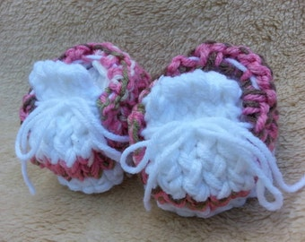Knitted Baby Girl Booties