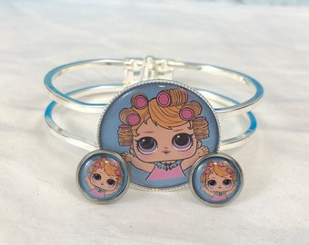 LOL Surprise Dolls BABY DOLL Bracelet And Earrings Set, New, Gift