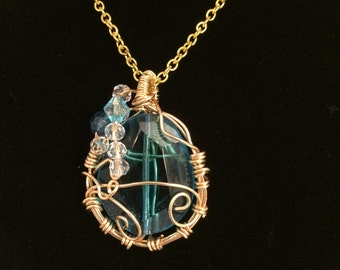 Water Drop- wire necklace