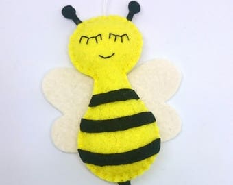 Felt bee ornament - felt christmas decor - hanging decoration - animals - cute kidsroom - nursery