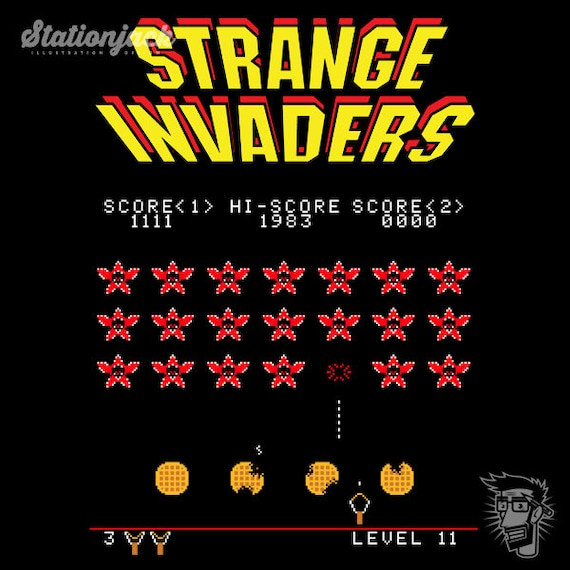 Strange Invaders T-shirt for Men or Women - S to 2XL