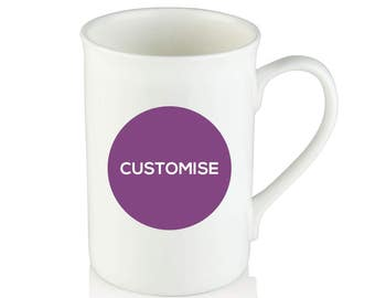 Personalised Bone China Mug -  Custom - Personalized - Add your photo, text etc
