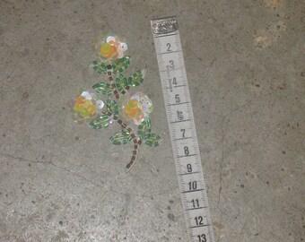1 sticky sequins flower applique