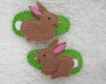 Rabbit hair clips, Easter gift, snap hair clips, Easter bunny, rabbit hair slides, rabbit hair grips, gifts for girls, gifts for her