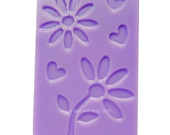 Flower Soap, Novelty Soap, Floral Impression Soap, Feminine Soap, Gift Soap, Just Bath And Body Stuff / JBABS