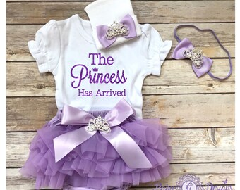 The Princess has arrived, lavender coming home outfit