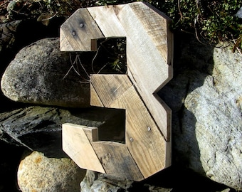Planked Rustic Numbers with Reclaimed Wood