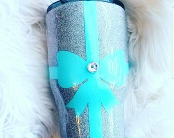 Proposal Ideas/will you marry me/engagement/anniversary gift/wedding/bride to be/bridesmaid/blue/bling glitter/girlfriend/I love you/mug/cup