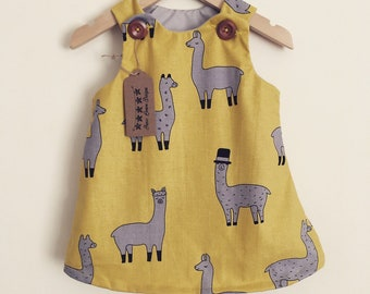 Llama pinafore dress