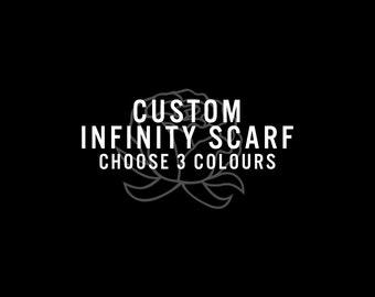 Custom Tri-Colour Bulky Infinity Scarf