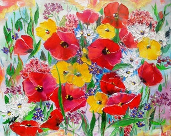 oil painting. Summer paints. Motley. х50mm See Canvas on stretcher.
