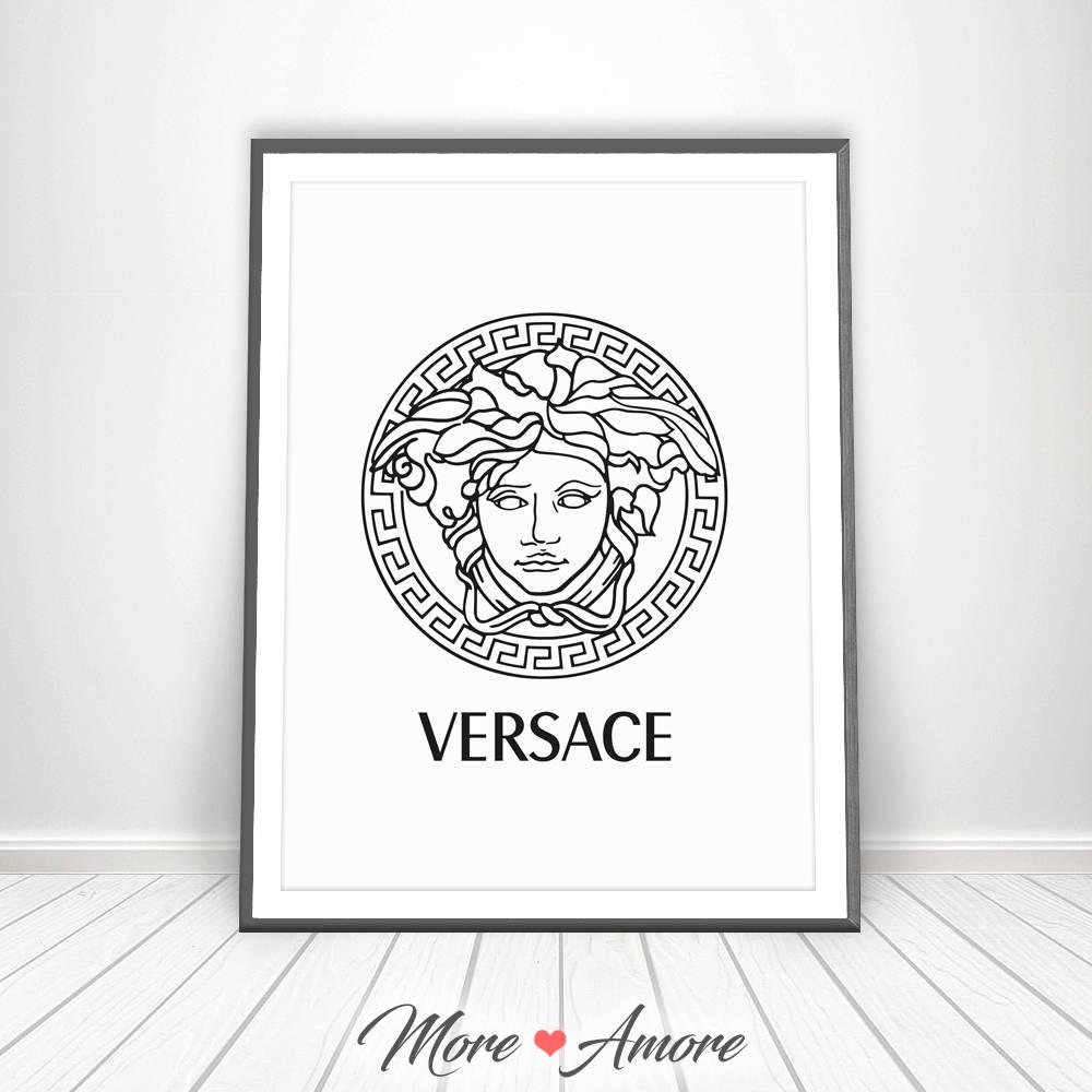 VERSACE impresión Gianni Versace Logo Medusa cabeza Affiche