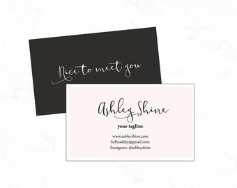 Pink Business card design:PSD business card template, Diy business card template