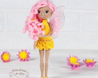 Fairy, Doll, Decorative Doll, Crochet Doll, Art Doll, Gift Doll, Interior Decor, Present Doll, Collection Doll, Unique, For her, Amigurumi