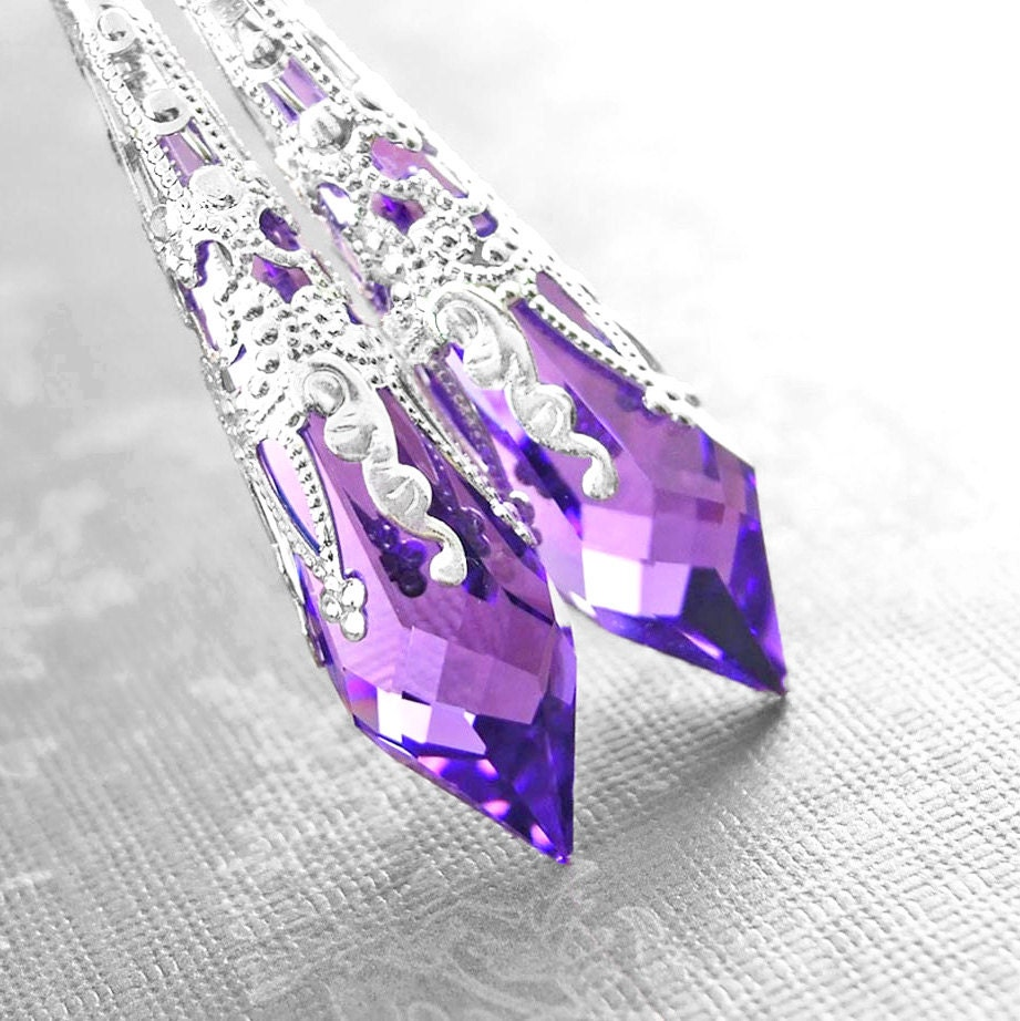 purple peretti the elsa yard ed jewelry with color earrings by silver in peretticolor
