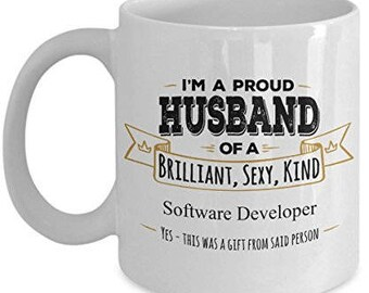 Software Developer Mug - Software Developer Gift - Husband Coffee Mug -Birthday Gift- Wife to Husband gift- Gifts for Husband