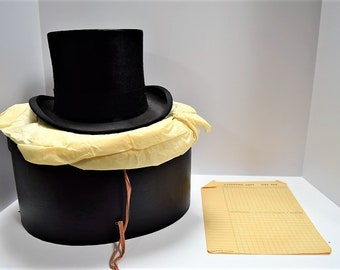 Authentic Beaver Fur Top Hat from Park Ave, NY