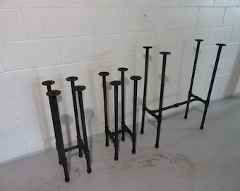 """Item #17, 3/4""""  BREAKFAST NOOK Table and Stools Pipe Legs, 3 piece set"""