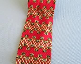 Vintage Men's Silk Necktie Umo Lorenzo Italy