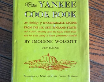 Vintage 1963 The Yankee Cookbook Cook Book   Imogene Wolcott