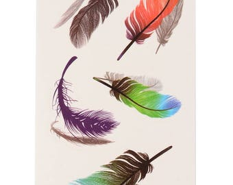 Feathers Tattoo Sheet - 1 Pc
