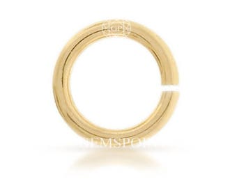 50 Pcs, 14k Gold Filled Jump Ring 22ga 4mm (GP-GF2193)