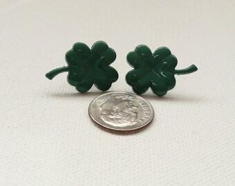 Four Leaf Clover Post Earrings