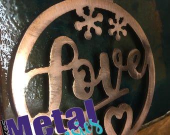 "Metal Love Ornaments 4"""