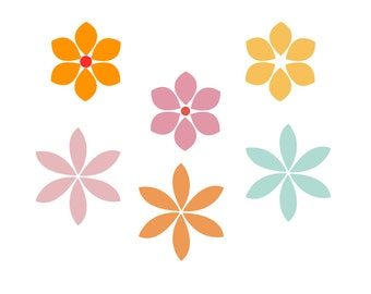 Flowers SVG Cutting File, Commercial Use, INSTANT DOWNLOAD