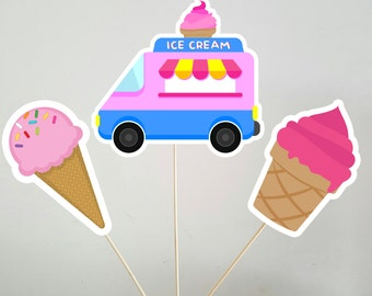 Ice Cream Party Centerpiece Sticks