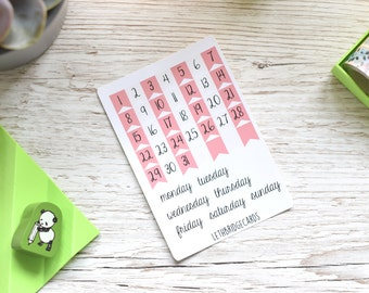 Pastel Date Cover Stickers; Bullet Journal Stickers; Calendar Stickers; TN stickers; Date Cover Ups; Mini Happy Planner Stickers