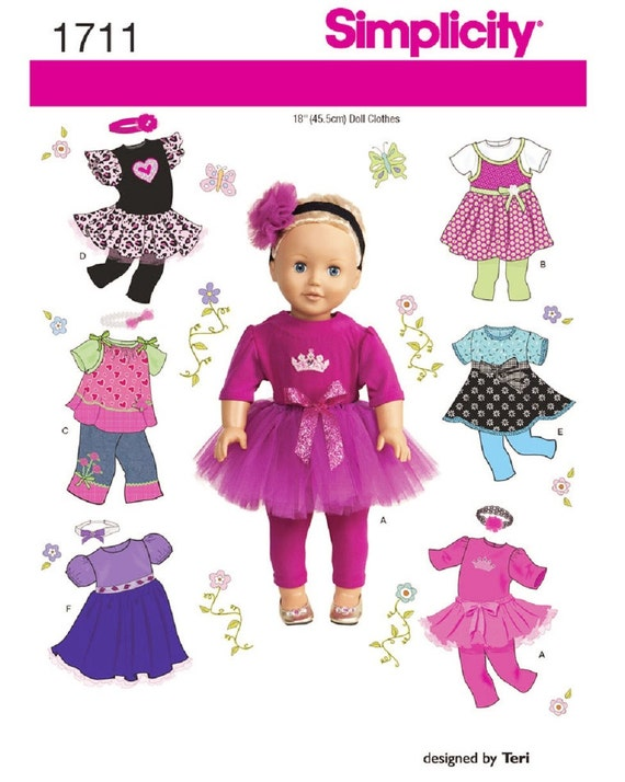 18 inch Doll Clothes Pattern, 18 inch Doll Tulle Skirt Pattern ...