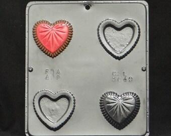 Heart Box Chocolate Candy Mold Valentines day / Wedding / Valentine 3049