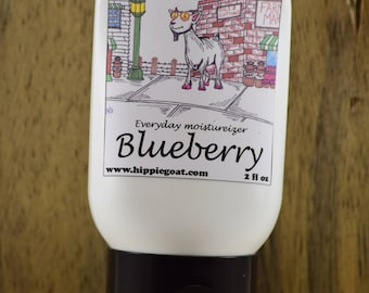Blueberry lotion, goat milk lotion, natural lotion, natural skincare, moisturizer, body lotion, hand lotion, scented lotion, hand cream