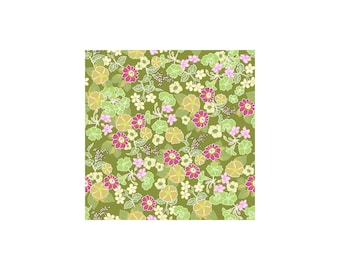 Garden Delights II 1GSF-2 Green by In The Beginning Cotton Fabric Yardage