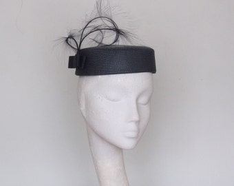 Navy Pillbox Fascinator Royal Ascot Hat,  Derby Hat, Mother of the Bride Hat,  Wedding Hat,  Race Day Hat SS2018R
