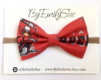Tampa Bay buccaneers baby bow headband   toddler headband