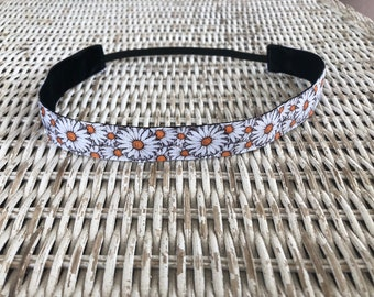 Daisy Headband - No Slip Headband - Adult Headband - Adjustable Headband - Girls Headband - Flower Headband - Daisy Gift - Hair Accessory
