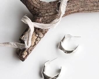 Twist Silver Earrings