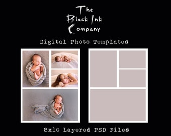 8 x 10 Collage Template #4