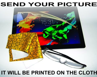 CUSTOM-made microfiber cleaning cloth with YOUR DESIGN (Free shipping)