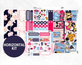 Magical Horizontal Kit | Matte Glossy Planner Stickers