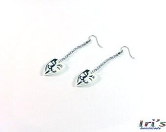 Anonymous Earrings,Guy Fawkes Mask Earrings