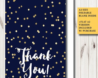 Gold Thank You Note Etsy