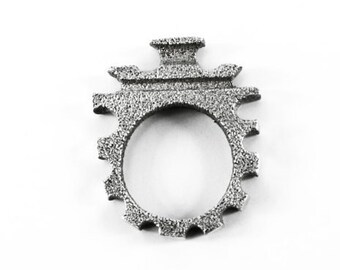 Pagoda ring. Silver Ring.  Ring texture. Silver ring. Temple ring. Stupa ring. Temple ring. Ring in Asia. Contemporary jewel.