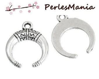 PAX 50 Buffalo CHEYENNE old silver S1183671 Crescent Horn pendants